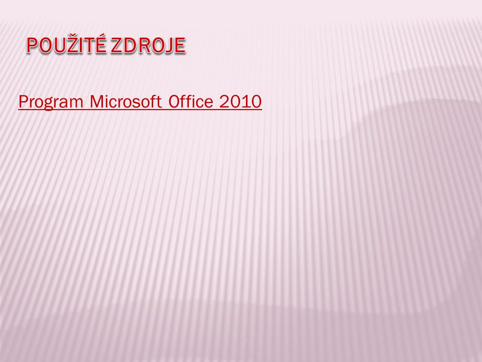 Program Microsoft Office 2010