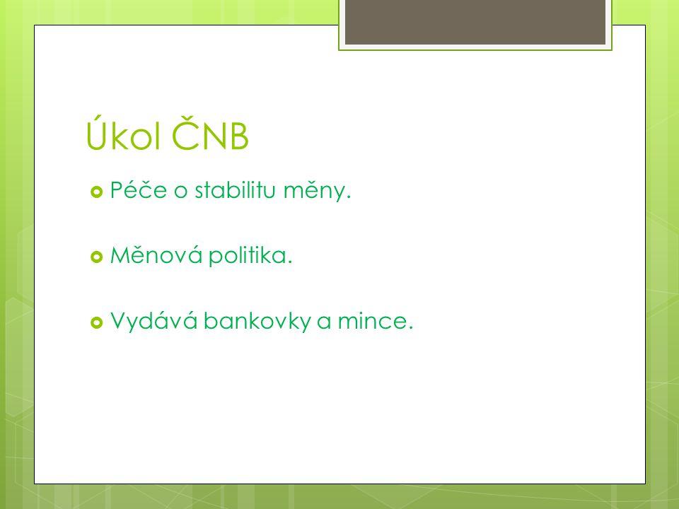 Otázky:  Jaké poslání má Nejvyšší kontrolní úřad?  Jaké poslání má Česká národní banka?