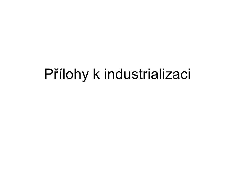 Přílohy k industrializaci