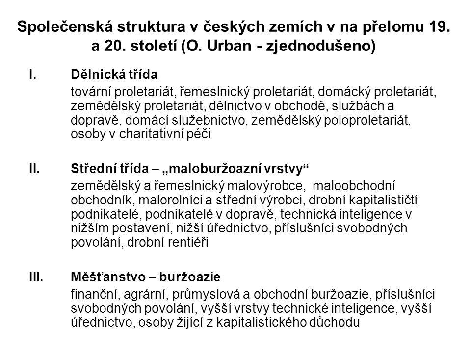 Společenská struktura v českých zemích v na přelomu 19.