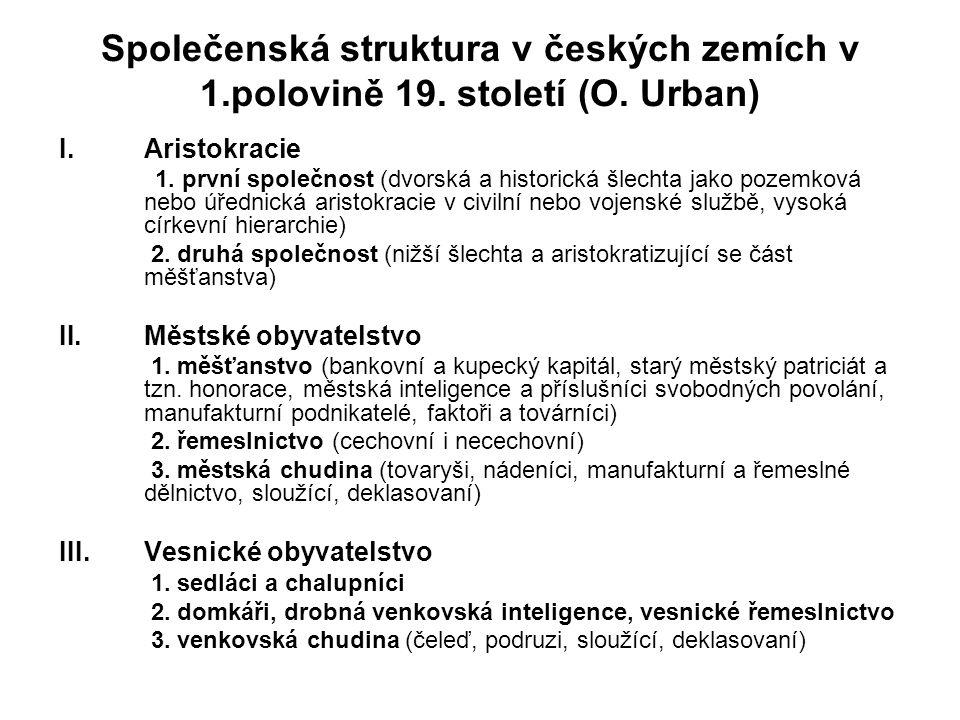 Společenská struktura v českých zemích v 1.polovině 19.