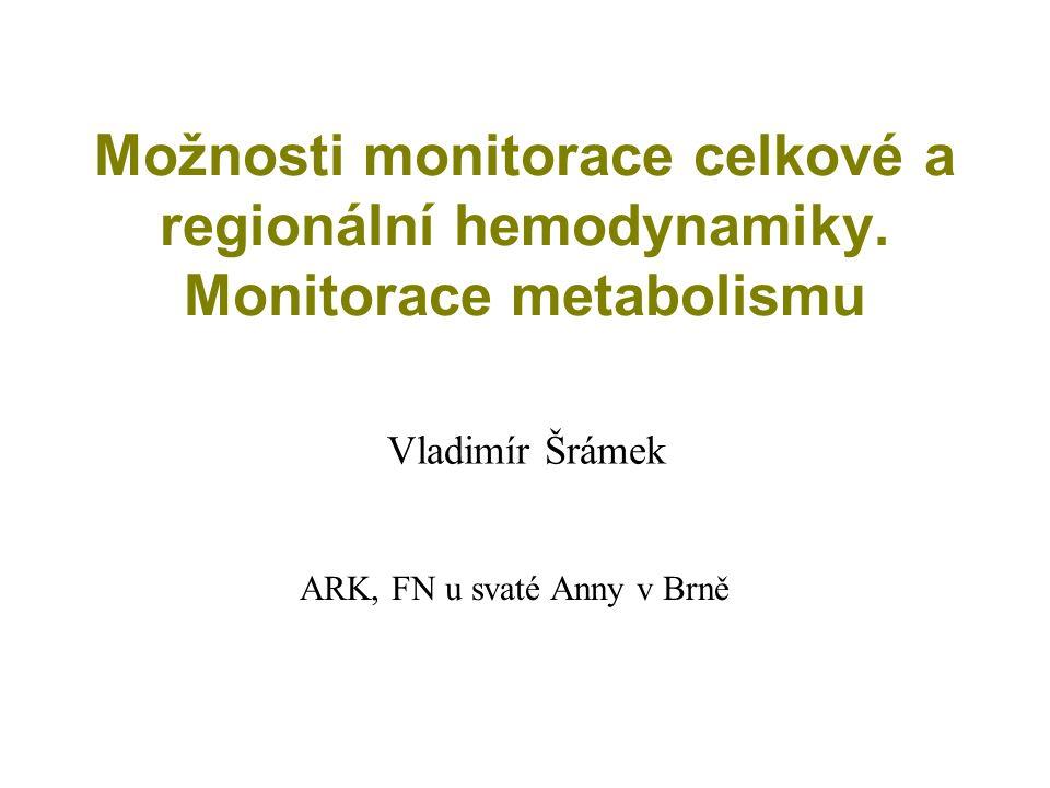 Možnosti monitorace celkové a regionální hemodynamiky.