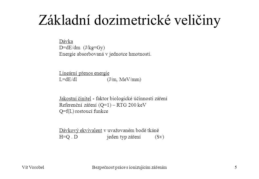 Vít VorobelBezpečnost práce s ionizujícím zářením6 Veličiny radiační ochrany Vyhláška SÚJB o radiační ochraně 307/2002 Sb.