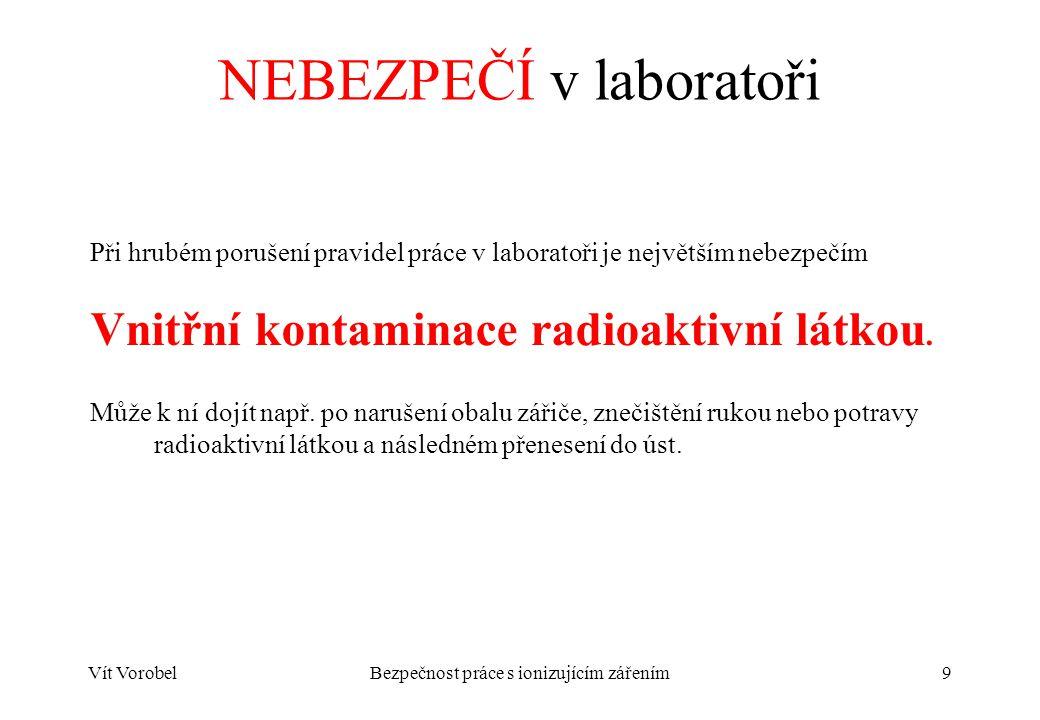 Vít VorobelBezpečnost práce s ionizujícím zářením10 Časté návyky nevhodné v laboratoři  Olíznutí prstů při otáčení stránky v knize.