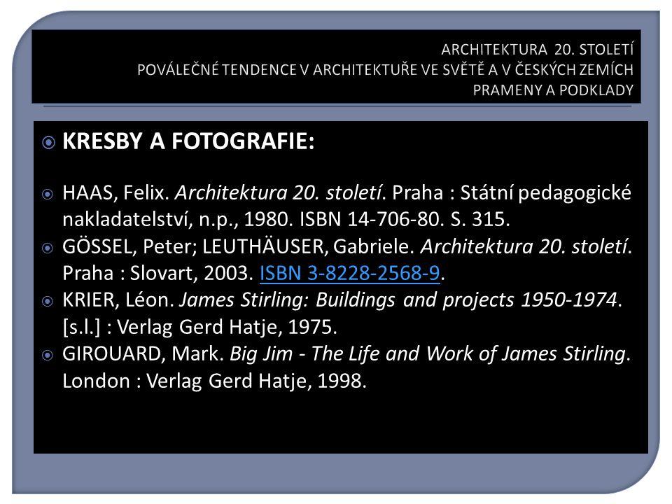  KRESBY A FOTOGRAFIE:  HAAS, Felix. Architektura 20.