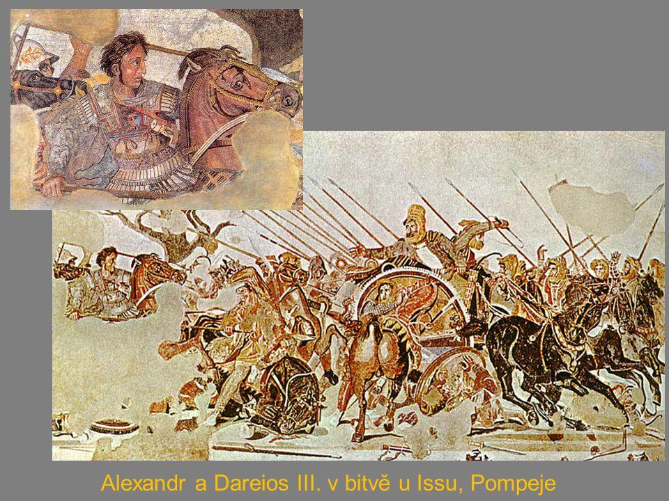 Alexandr zakládá města – Alexandrie (asi 90); nejslavnější v Egyptě - proslulá knihovna, 700 000 svazků, město se stalo centrem vědeckého bádání a vzdělanosti, v němž působili významní učenci z celého antického Středomoří; maják na ostrově Faru naproti alexandrijskému přístavu, zařazený mezi sedm divů světa Helénismus – kultura, která vznikla smísením řecké kultury s kulturou východních národů Diadochové – nástupci Alexandra Velikého (vojevůdci) nejslavnější Ptolemaiovci v Egyptě říše rozdělena na tři části