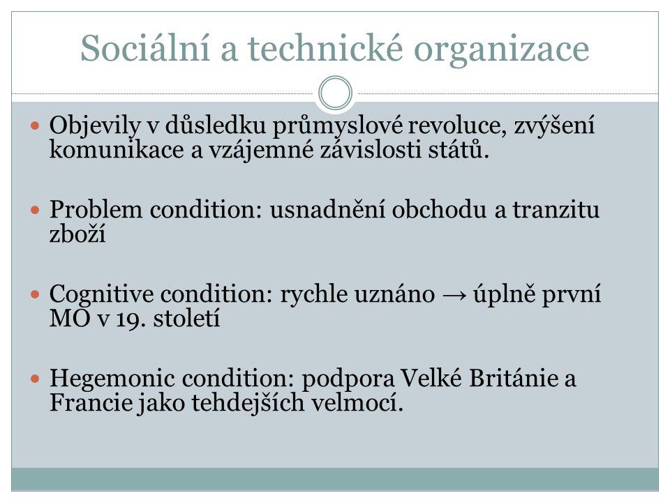 Sociální a technické organizace Objevily v důsledku průmyslové revoluce, zvýšení komunikace a vzájemné závislosti států.