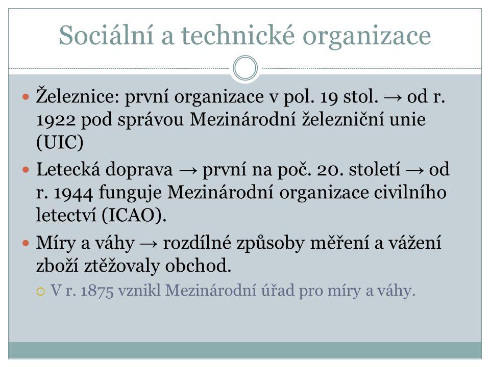 Sociální a technické organizace Železnice: první organizace v pol.