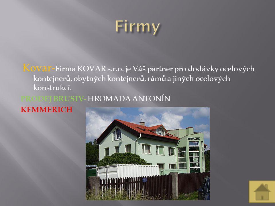 Kovar- Firma KOVAR s.r.o.