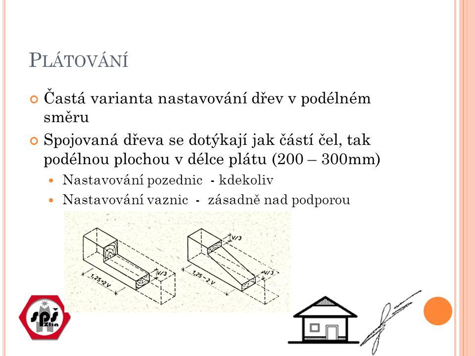 ZAPUŠTĚNÍ Spoj dvou kolmých nebo šikmých dřev, čelo připojovaného prvku dosedá v zapuštění celou plochou do dřeva ( trámu) průběžného příkladem je zapuštění vzpěry do vazního trámu nebo sloupku
