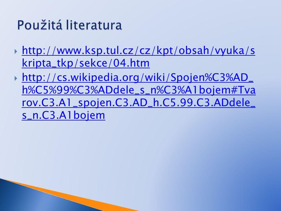  http://www.ksp.tul.cz/cz/kpt/obsah/vyuka/s kripta_tkp/sekce/04.htm http://www.ksp.tul.cz/cz/kpt/obsah/vyuka/s kripta_tkp/sekce/04.htm  http://cs.wikipedia.org/wiki/Spojen%C3%AD_ h%C5%99%C3%ADdele_s_n%C3%A1bojem#Tva rov.C3.A1_spojen.C3.AD_h.C5.99.C3.ADdele_ s_n.C3.A1bojem http://cs.wikipedia.org/wiki/Spojen%C3%AD_ h%C5%99%C3%ADdele_s_n%C3%A1bojem#Tva rov.C3.A1_spojen.C3.AD_h.C5.99.C3.ADdele_ s_n.C3.A1bojem