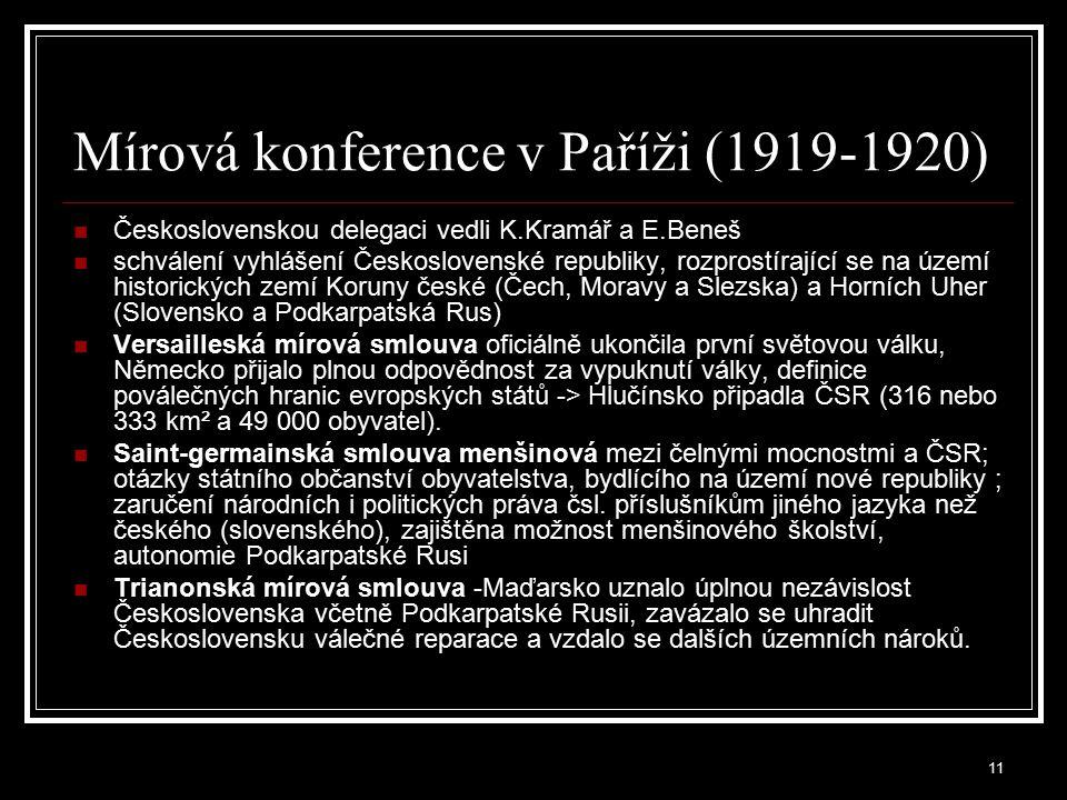 12 Úpravy hranic v letech 1918-1924