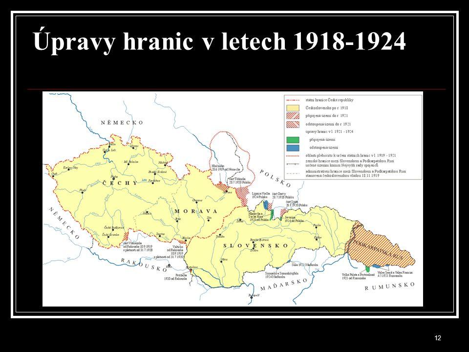 13 Národnosti v Československu 1921 Total population 13,607.385 Čechoslováci 8,759.701 64.37 % Němci 3,123.305 22.95 % Maďaři 744.621 5.47 % Rusové 461.449 3.39 % Židé 180.534 1.33 % Poláci 75.852 0.56 % Jiní 23.139 0.17 % Cizinci 238.784 1.75 %