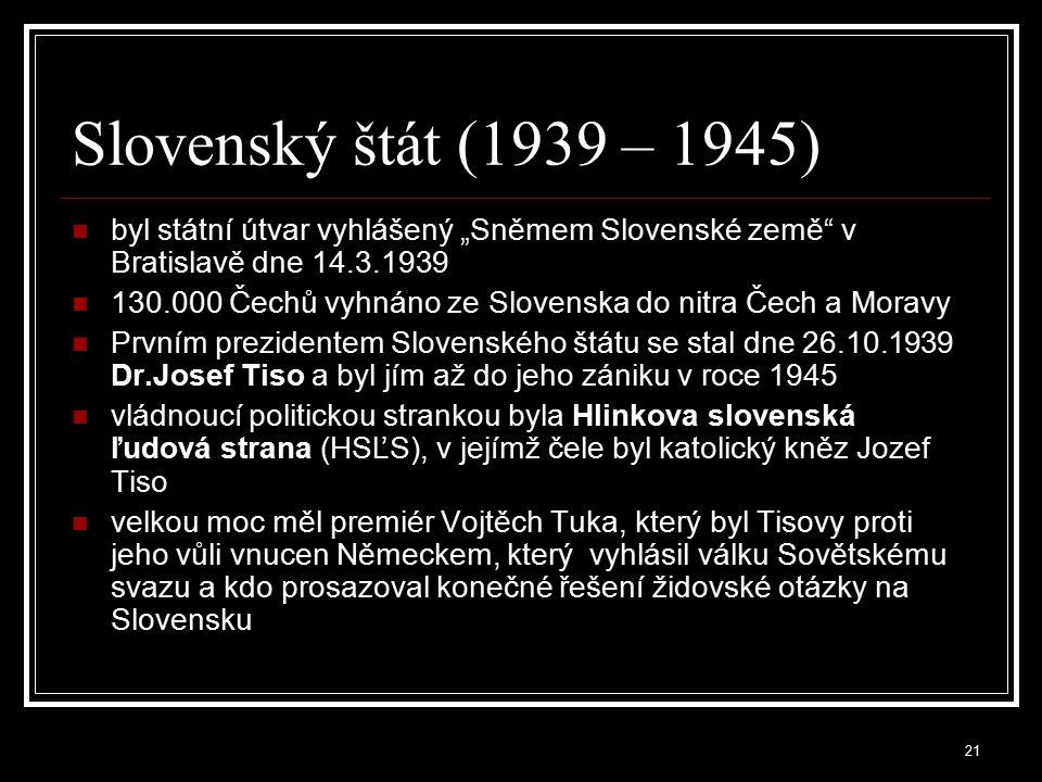 22 Protektorát Čechy a Morava