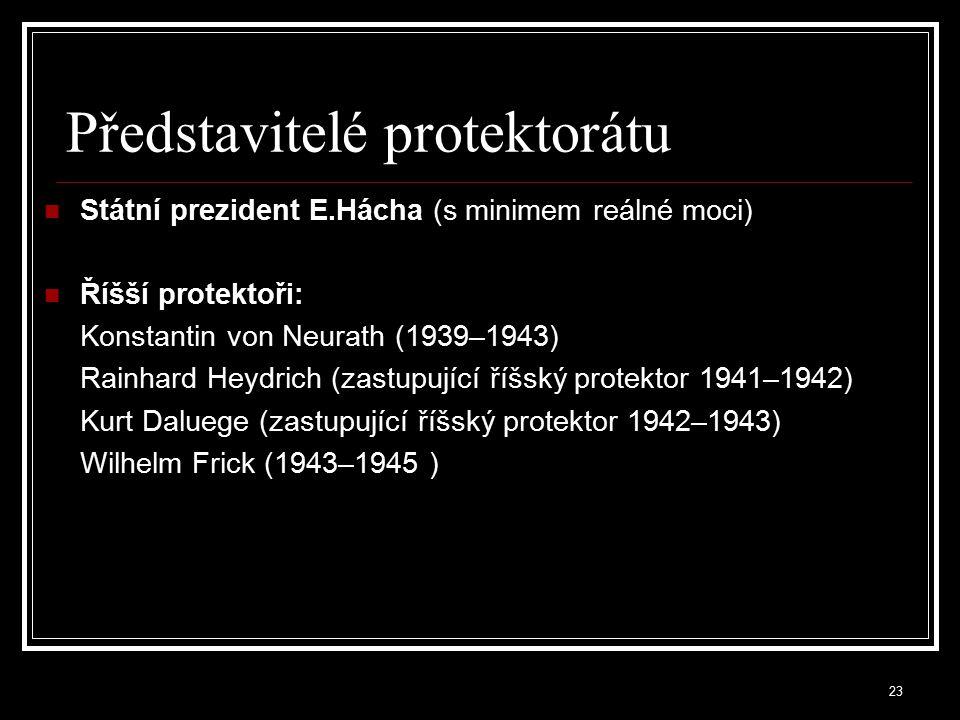 24 Konečné řešení české otázky (Endlösung ) byl plán na úplnou germanizaci českého území, a to především vysídlením českého obyvatelstva na Sibiř nebo do oblasti Volyně realizace však byla pozdržena kvůli potřebě české pracovní síly k zabezpečení německých vojsk do konce války byla vysídlena necelá stovka obcí s asi 50 000 obyvateli