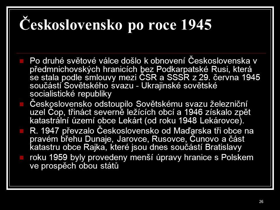 27 Státní hranice po roce 1945