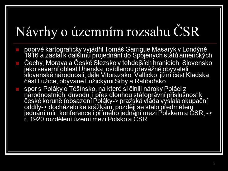 4 Clevelandská dohoda (1915) první písemný dokument podepsaný Čechy a Slováky prokázat Spojencům společný boj za národní sebeurčení zástupci Slováků byli ochotni zúčastnit se práce na založení společného samostatného česko- slovenského státu jen pod tou podmínkou, že se bude jednat o federaci