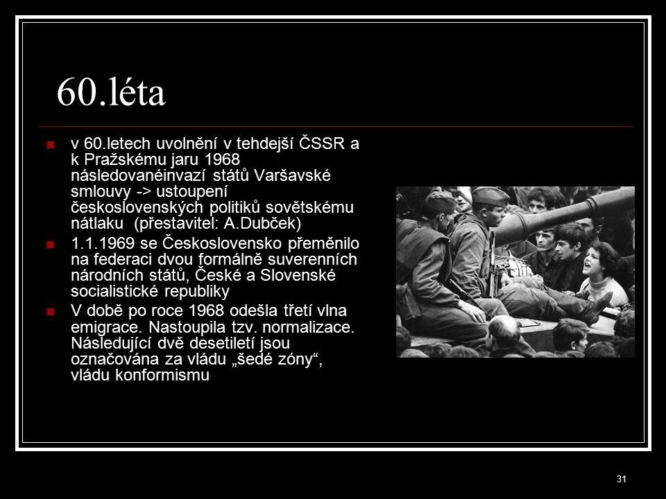 32 70.léta rostl vliv disentu a nevládních organizací, mezi které patřila například Charta77 poukazování na porušování lidských práv režim proti těmto organizacím bojoval, například vytvořením anticharty