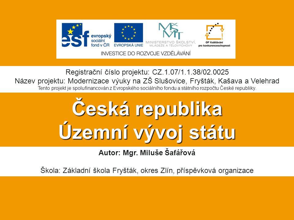 Anotace:  Digitální učební materiál je určen pro seznámení žáků s polohou a rozlohou České republiky, k procvičování nových vědomostí.
