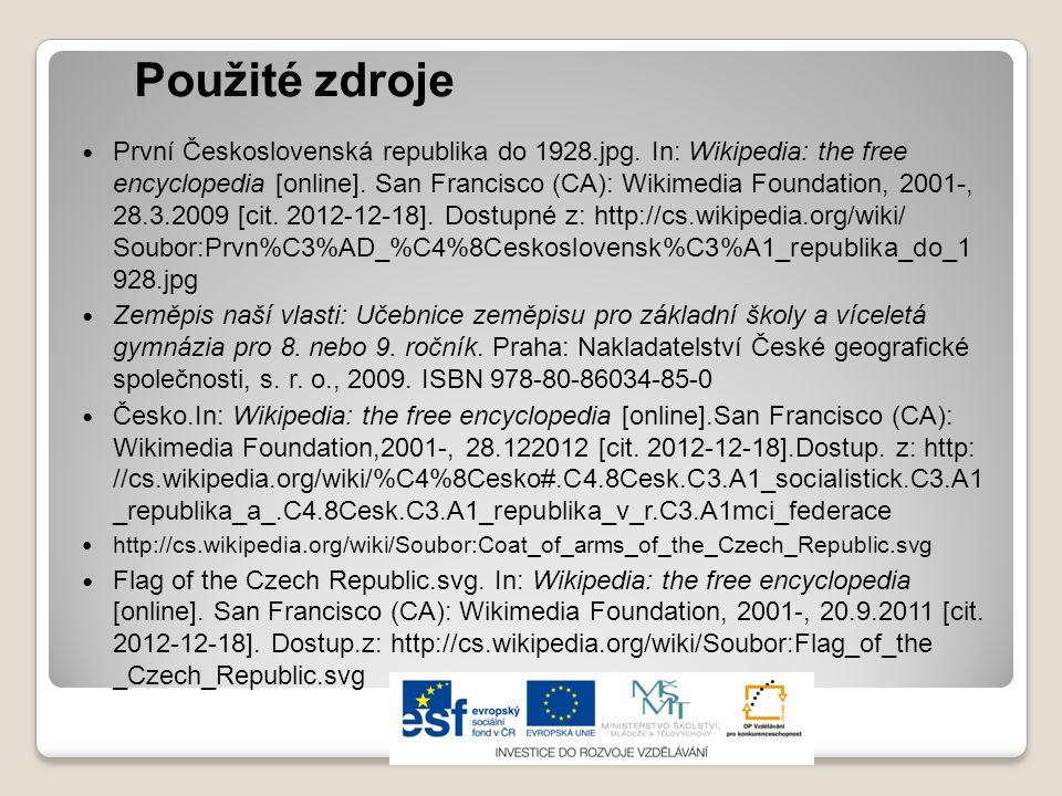 Použité zdroje První Československá republika do 1928.jpg. In: Wikipedia: the free encyclopedia [online]. San Francisco (CA): Wikimedia Foundation, 20
