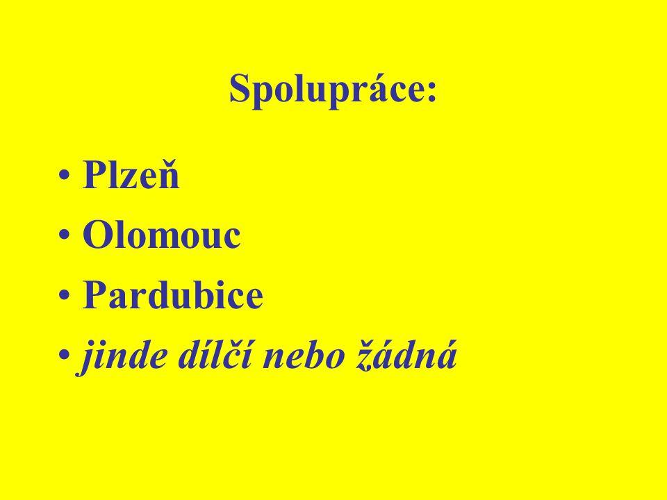 Spolupráce: Plzeň Olomouc Pardubice jinde dílčí nebo žádná