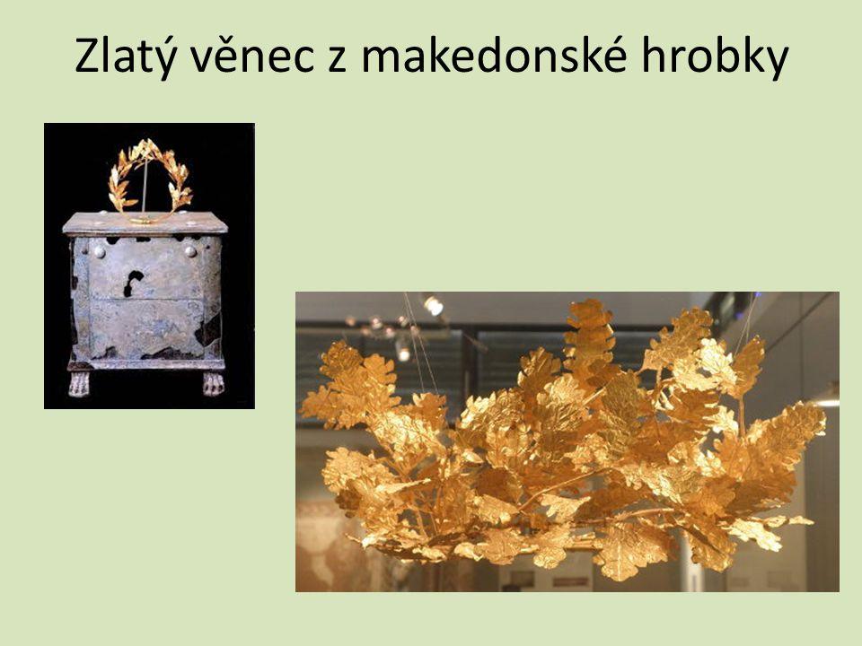 Zlatý věnec z makedonské hrobky
