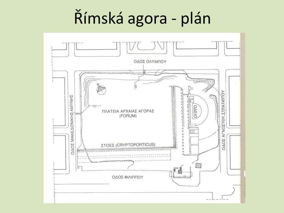 Římská agora - plán