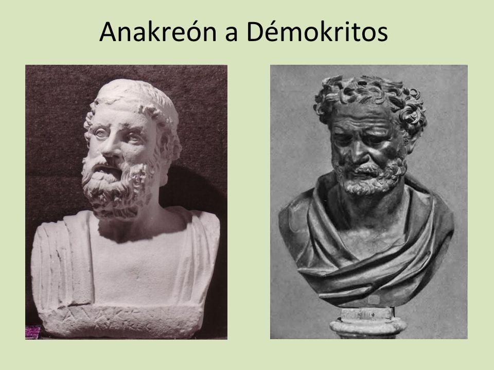 Anakreón a Démokritos