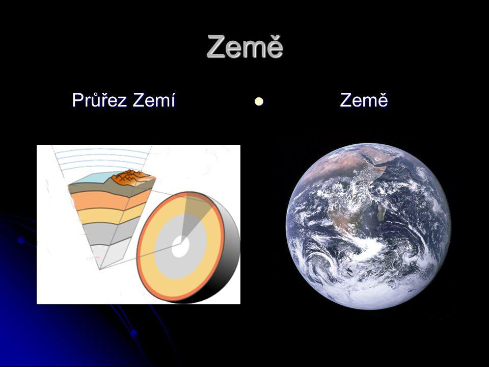 Země Průřez Zemí Průřez Zemí Země Země