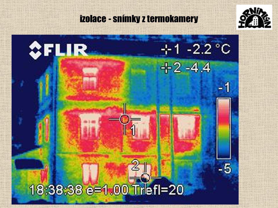 izolace - snímky z termokamery