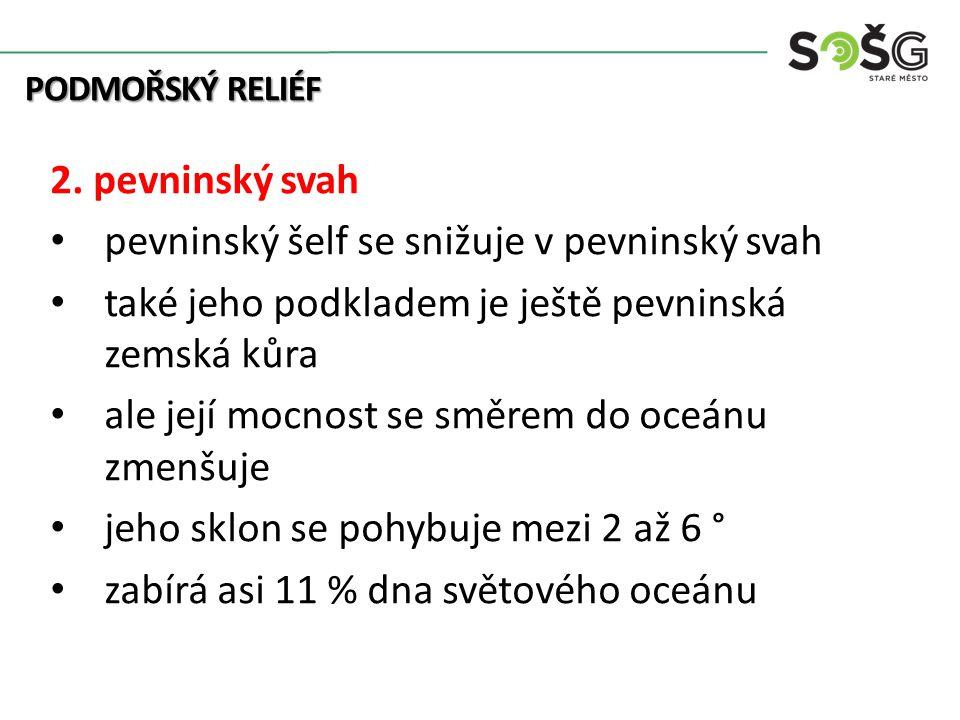 PODMOŘSKÝ RELIÉF 2.