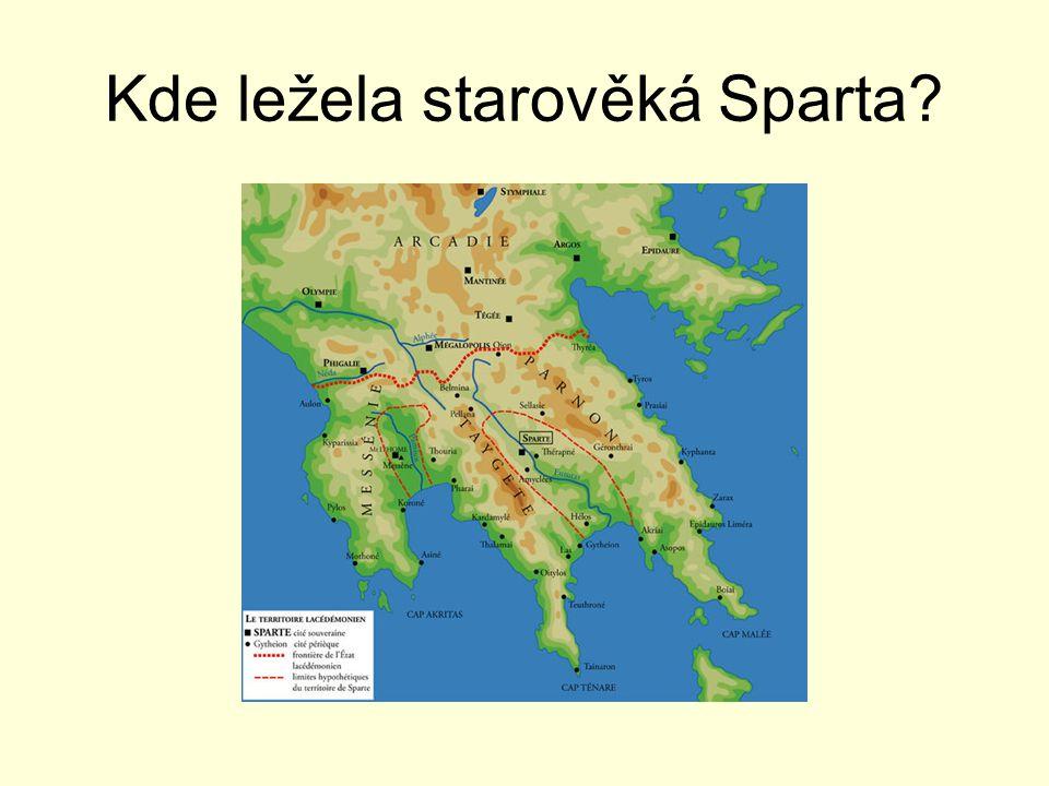 Kde ležela starověká Sparta?