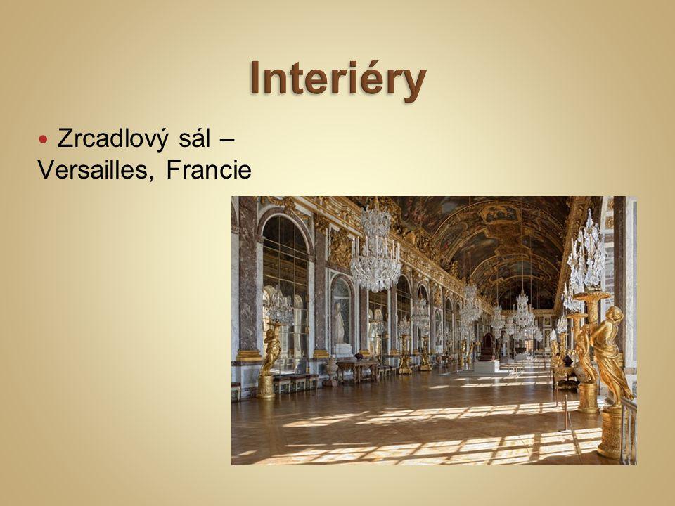 Zrcadlový sál – Versailles, Francie