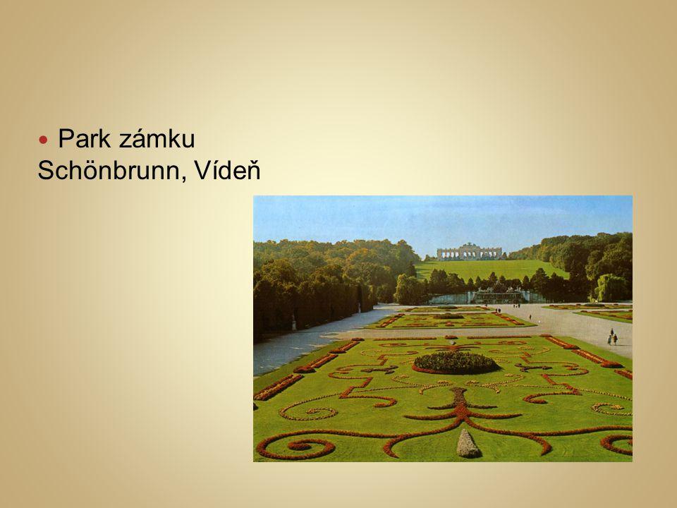 Park zámku Schönbrunn, Vídeň