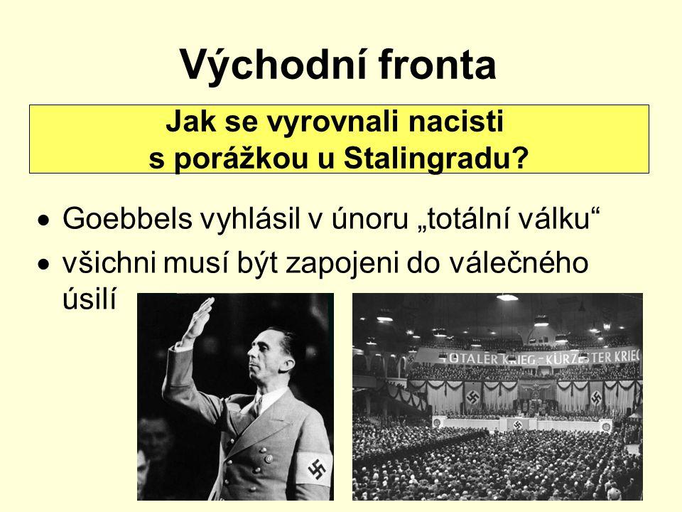 """Východní fronta  Goebbels vyhlásil v únoru """"totální válku""""  všichni musí být zapojeni do válečného úsilí Jak se vyrovnali nacisti s porážkou u Stali"""
