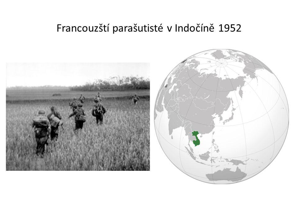 Francouzští parašutisté v Indočíně 1952