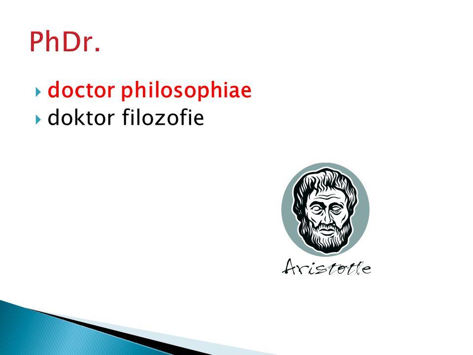  doctor rerum naturalium  doktor přírodních věd