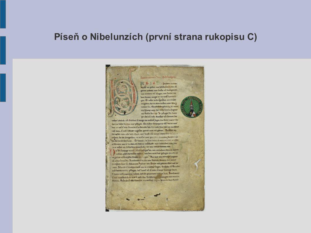 Píseň o Nibelunzích (první strana rukopisu C)