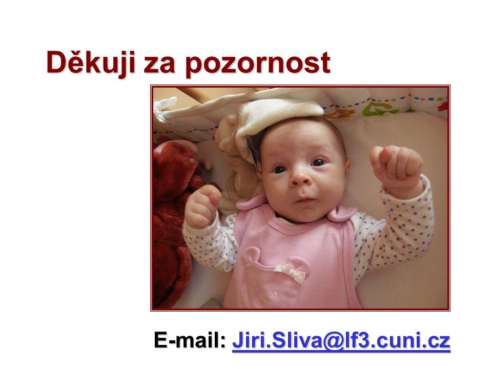 Děkuji za pozornost E-mail:Jiri.Sliva@lf3.cuni.cz E-mail: Jiri.Sliva@lf3.cuni.cz