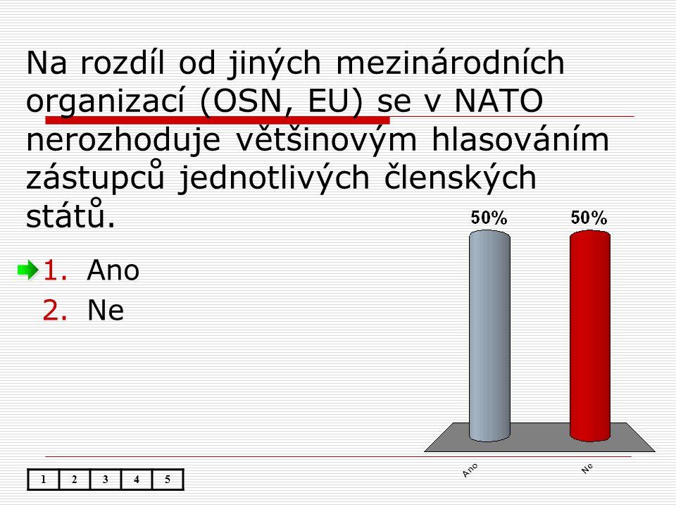 Na rozdíl od jiných mezinárodních organizací (OSN, EU) se v NATO nerozhoduje většinovým hlasováním zástupců jednotlivých členských států.