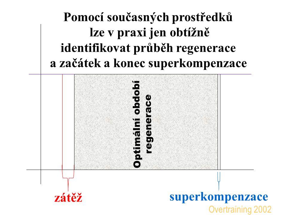 superkompenzace zátěž Optimální období regenerace Pomocí současných prostředků lze v praxi jen obtížně identifikovat průběh regenerace a začátek a kon