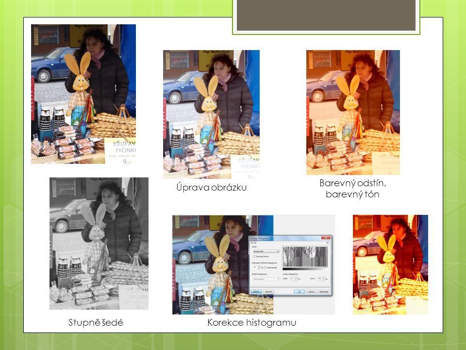 Barevný odstín, barevný tón Úprava obrázku Stupně šedé Korekce histogramu