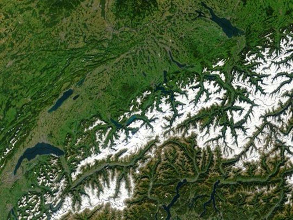 Přírodní podmínky Nejvyšší bod: Monte Rosa (4 634 m n.