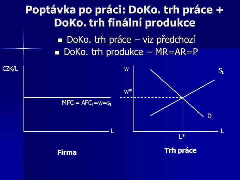 Poptávka po práci: DoKo.trh práce + DoKo. trh finální produkce DoKo.