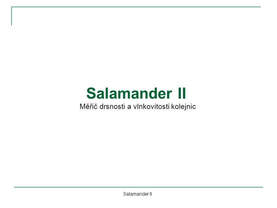 Salamander II Měřič drsnosti a vlnkovitosti kolejnic