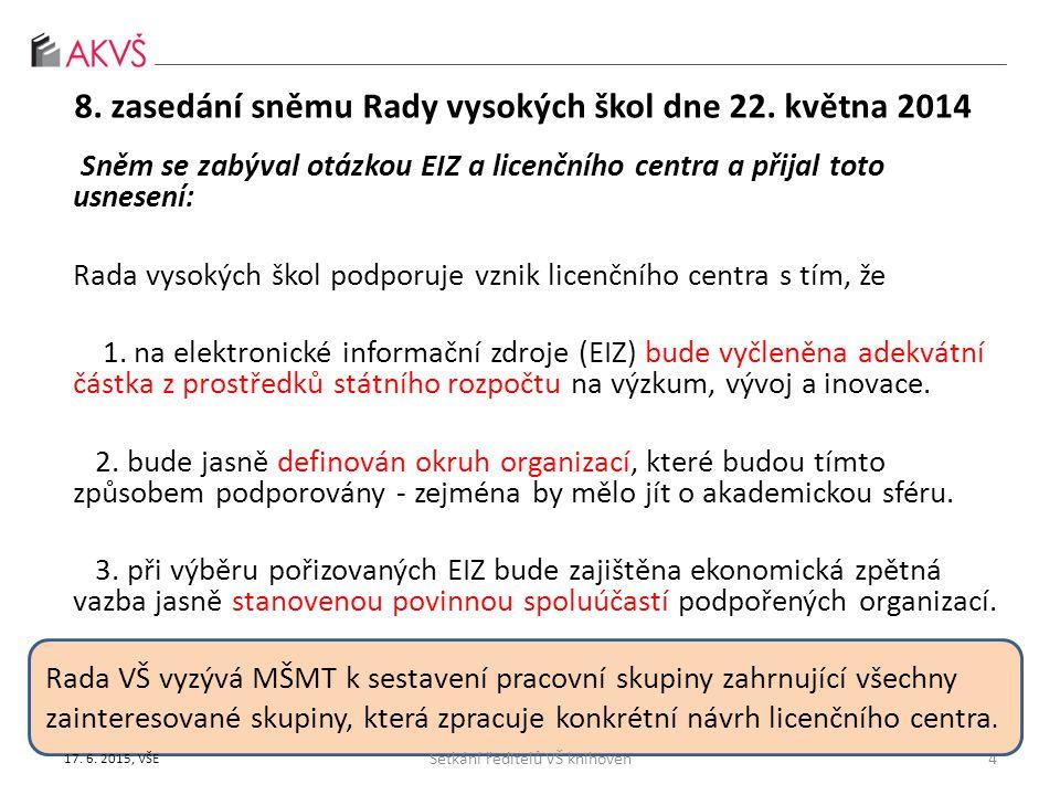 """předběžný harmonogram výzev OP VVV na 2015 podporované aktivity (PO1, IP1, SC4 ): Budování institucionální kapacity a strategické inteligence veřejné správy, Rozvoj strategického řízení politiky VaVaI, Vytvoření systému popularizace výsledků českého VaV, Vytvoření a implementace systému centrálních informačních zdrojů pro VaV, Podpora volného přístupu k vědeckým informacím - """"open access , Vytvoření a implementace mechanismů pro mezinárodní koordinaci podpory výzkumných a inovačních aktivit Typy příjemců: orgány státní správy a samosprávy, jim podřízené či jimi zřízené organizace Druh výzvy: průběžná Plánované datum vyhlášení výzvy 2."""