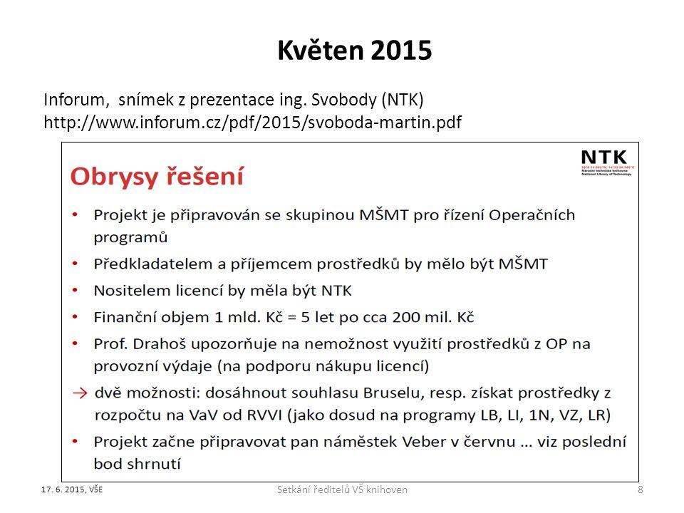 Květen 2015 Inforum, snímek z prezentace ing.