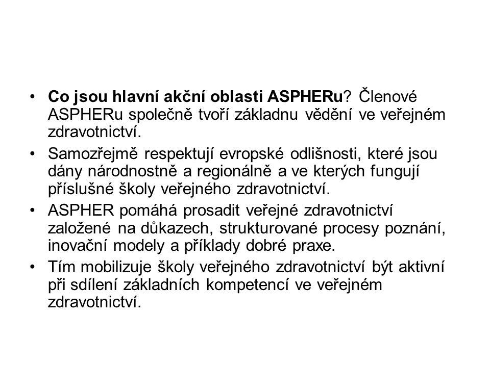 Co jsou hlavní akční oblasti ASPHERu.