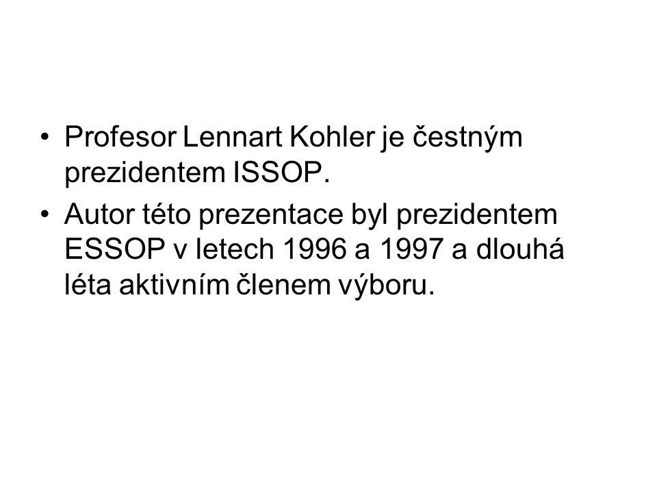 Profesor Lennart Kohler je čestným prezidentem ISSOP.