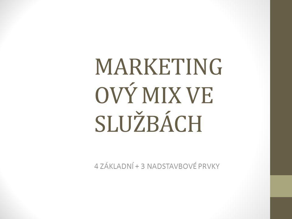 1. Produkt - služba - Úrovně - řízení kvality - marketingový výzkum - prvky služby